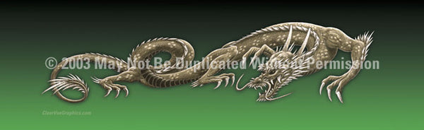 Window Graphic - 16x54 Dragon Tattoo Green - ClearVue Graphics - Dropship Direct Wholesale