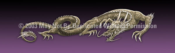 Window Graphic - 20x65 Dragon Tattoo Purple - ClearVue Graphics - Dropship Direct Wholesale