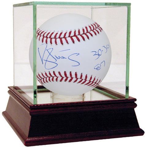 Darryl Strawberry Signed MLB Baseball w/ 30/30 87 Insc