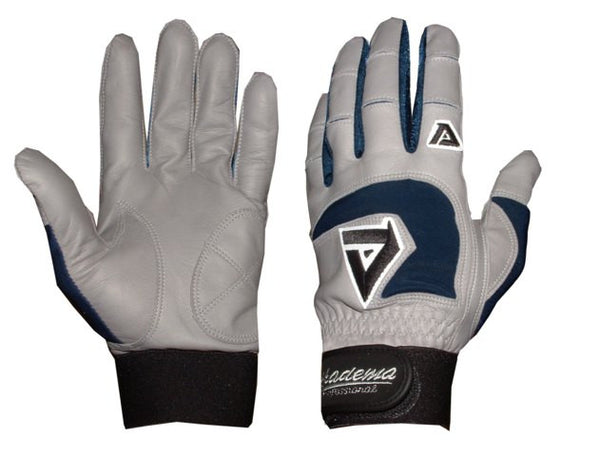 Akadema Grey/Navy Professional Batting Gloves Small - Akadema - Dropship Direct Wholesale