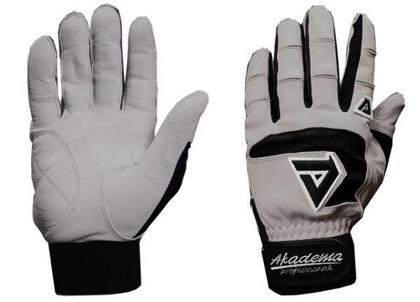Akadema Grey/Black Professional Batting Gloves Small - Akadema - Dropship Direct Wholesale