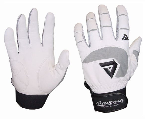 Akadema White/Grey Professional Batting Gloves Small - Akadema - Dropship Direct Wholesale