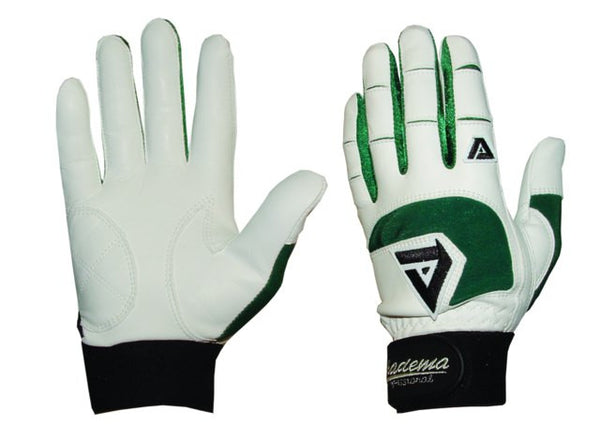 Akadema White/Green Professional Batting Gloves Small - Akadema - Dropship Direct Wholesale