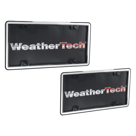 Black/White ClearFrame License Plate Frame - WeatherTech - Dropship Direct Wholesale