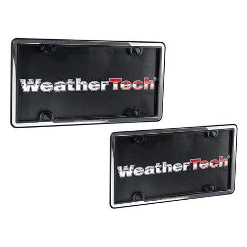 Chrome/Black ClearFrame License Plate Frame - WeatherTech - Dropship Direct Wholesale