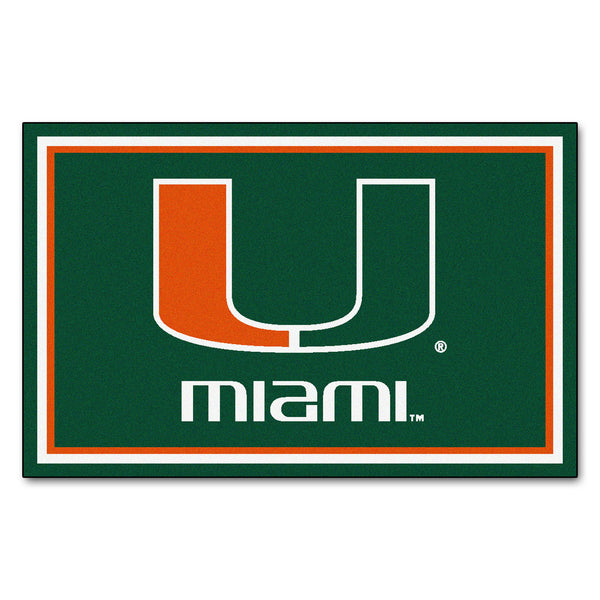University of Miami Rug 4x6 - FANMATS - Dropship Direct Wholesale
