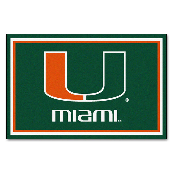 University of Miami Rug 5x8 - FANMATS - Dropship Direct Wholesale