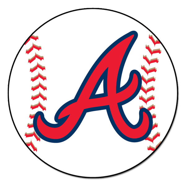 "MLB - Atlanta Braves Baseball Mat 27"" diameter - FANMATS - Dropship Direct Wholesale"