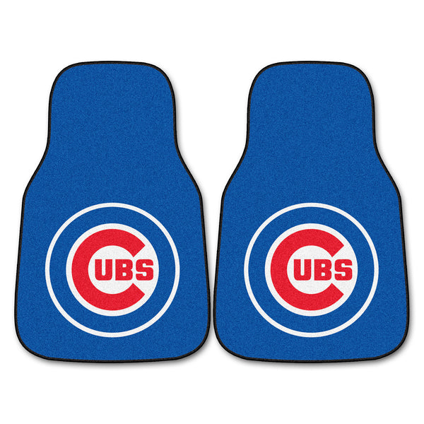 Chicago Cubs 2-piece Carpeted Car Mats 17x27 - FANMATS - Dropship Direct Wholesale