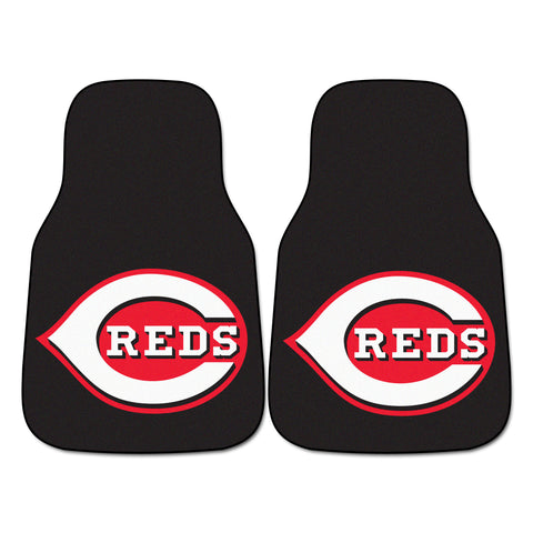 Cincinnati Reds 2-piece Carpeted Car Mats 17x27 - FANMATS - Dropship Direct Wholesale
