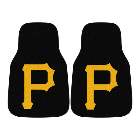 Pittsburgh Pirates 2-piece Carpeted Car Mats 17x27 - FANMATS - Dropship Direct Wholesale