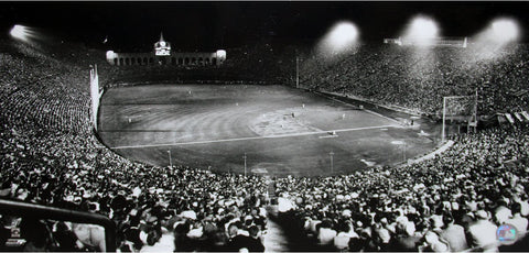 Dodgers Night Game at Los Angeles Coliseum 12x23 Photo