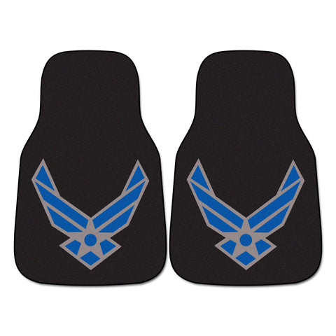 Air Force Licensed 2-piece Carpeted Car Mats 17x27 - FANMATS - Dropship Direct Wholesale