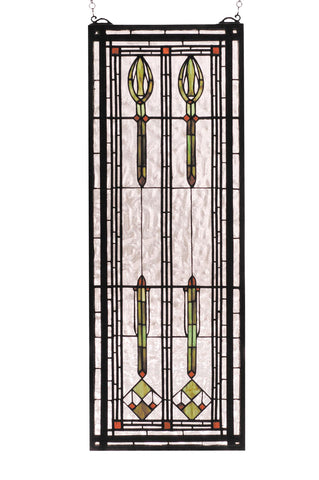 11 Inch W X 30 Inch H Spear Of Hastings Stained Glass Window - Meyda - Dropship Direct Wholesale