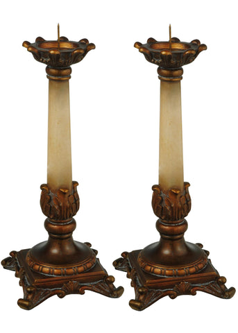 10 Inch H Arcadia 2 Pieces Candle Sticks - Meyda - Dropship Direct Wholesale