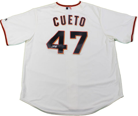 Johnny Cueto Signed Majestic San Francisco Giants Ivory Replica Home Jersey