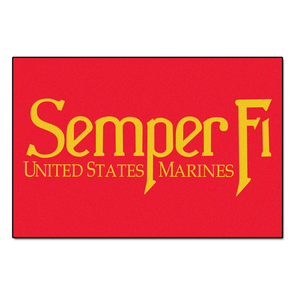 Marines Licensed Rug 4x6 - FANMATS - Dropship Direct Wholesale