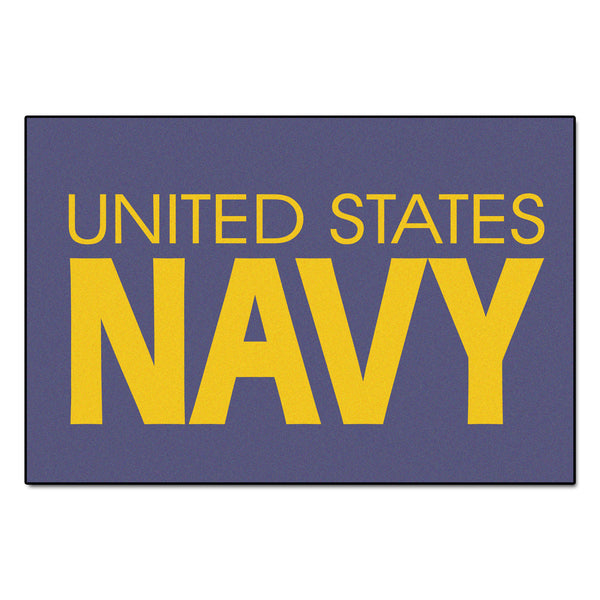 Navy Licensed Rug 4x6 - FANMATS - Dropship Direct Wholesale