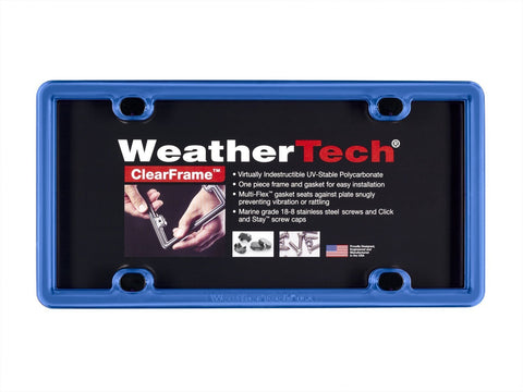 Blue ClearFrame License Plate Frame - WeatherTech - Dropship Direct Wholesale