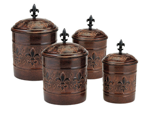 Set of 4 Versailles Canisters 4Qt/2Qt/1.5Qt/1Qt - Old Dutch - Dropship Direct Wholesale