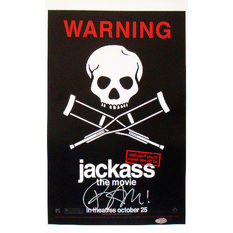 Bam Margera Signed Jackass Poster - Steiner Sports - Dropship Direct Wholesale