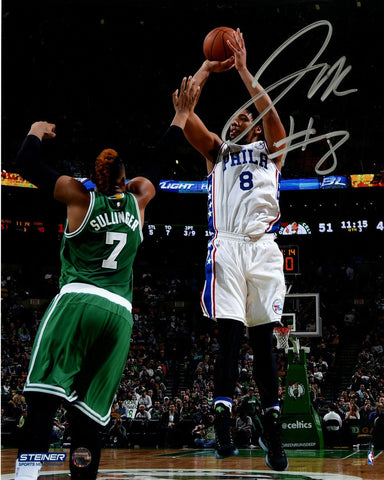 Jahlil Okafor Signed 76ers First NBA Game Action 8x10 Photo
