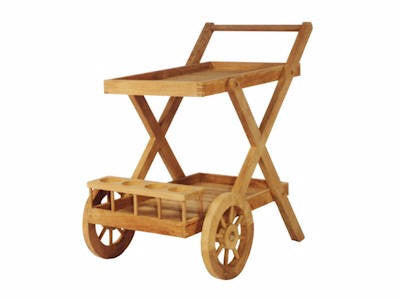 Cobana Serving Trolley - Anderson Teak - Dropship Direct Wholesale