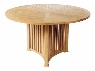 Mission 51 Inch Round Table - Anderson Teak - Dropship Direct Wholesale