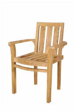 Classic Stackable Armchair Set of 4 - Anderson Teak - Dropship Direct Wholesale