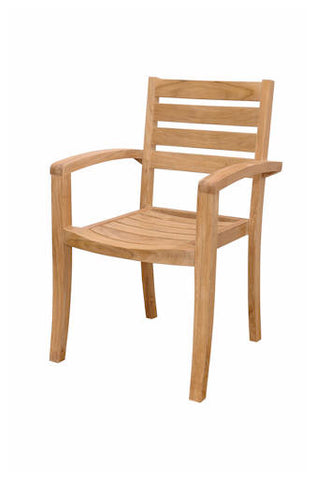 Catalina Stackable Armchair Set of 4 - Anderson Teak - Dropship Direct Wholesale
