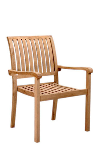 Aspen Stackable Armchair Set of 4 - Anderson Teak - Dropship Direct Wholesale