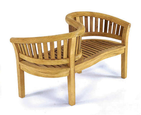 Curve Love Seat - Anderson Teak - Dropship Direct Wholesale