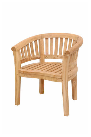 Curve Armchair Extra Thick Wood - Anderson Teak - Dropship Direct Wholesale
