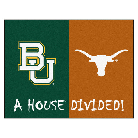 Baylor - Texas NCAA House Divided Rugs 33.75x42.5 - FANMATS - Dropship Direct Wholesale