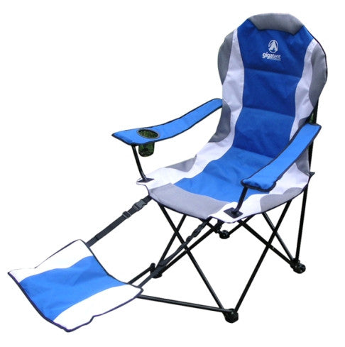 Camping Chair with Footrest BLUE - Gigatent - Dropship Direct Wholesale