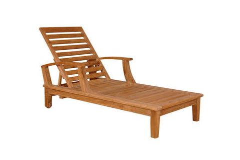 Brianna Sun Lounger with Arm - Anderson Teak - Dropship Direct Wholesale