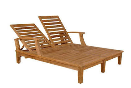 Brianna Double Sun Lounger with Arm - Anderson Teak - Dropship Direct Wholesale