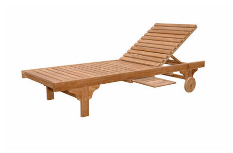 Capri Sun Lounger Adjusted Back + Side Tray - Anderson Teak - Dropship Direct Wholesale