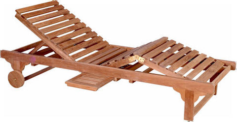 Capri Sun Lounger Adjusted Back + Knee + Side Tray - Anderson Teak - Dropship Direct Wholesale