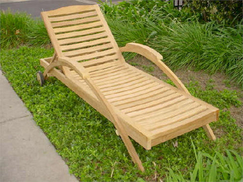Innova Sun Lounger - Anderson Teak - Dropship Direct Wholesale