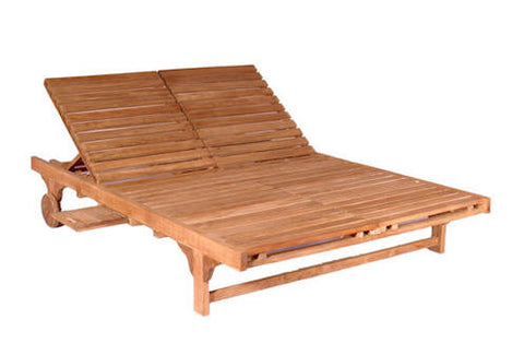 Bel-Air Double Sun Lounger Double Back - Anderson Teak - Dropship Direct Wholesale