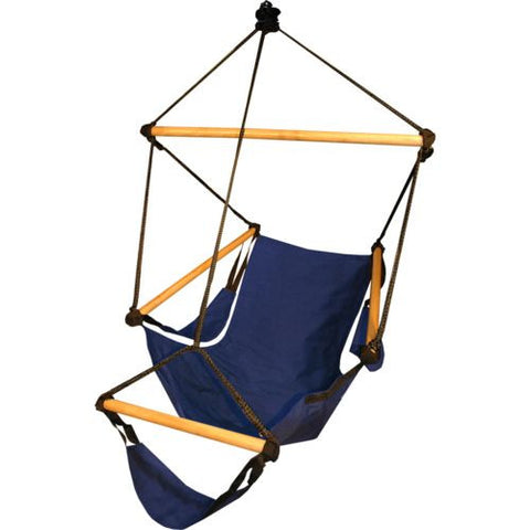 Hammaka Cradle Chair Blue Wood Dowels - Hammaka - Dropship Direct Wholesale