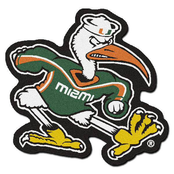 University of Miami Mascot Mat Approx. 3 ft x 4 ft - FANMATS - Dropship Direct Wholesale