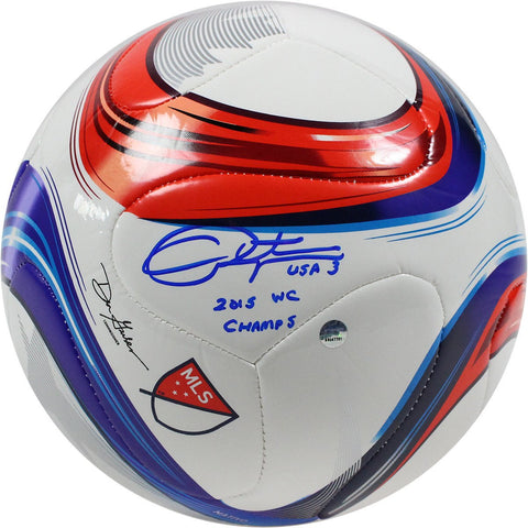Christie Rampone Signed Adidas Conext15 Competition Soccer Ball w/ 2015 WC Champs Insc