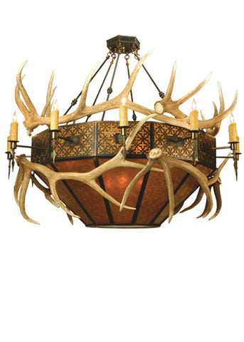 68 Inch W Antlers Elk Inverted Pendant - Meyda - Dropship Direct Wholesale