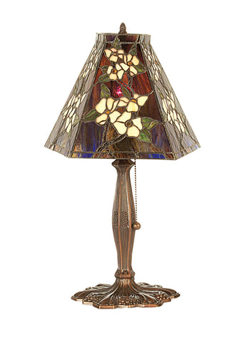 18.5 Inch H Oriental Peony Accent Lamp - Meyda - Dropship Direct Wholesale
