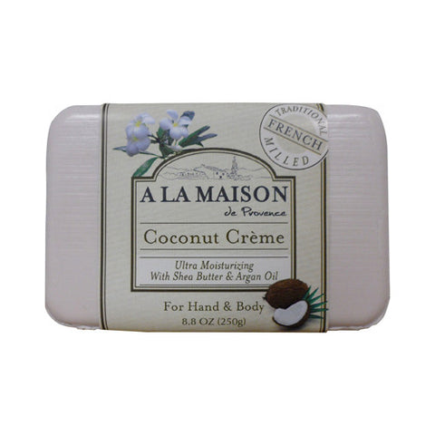 A La Maison Bar Soap - Coconut Creme - 8.8 oz - A La Maison - Dropship Direct Wholesale