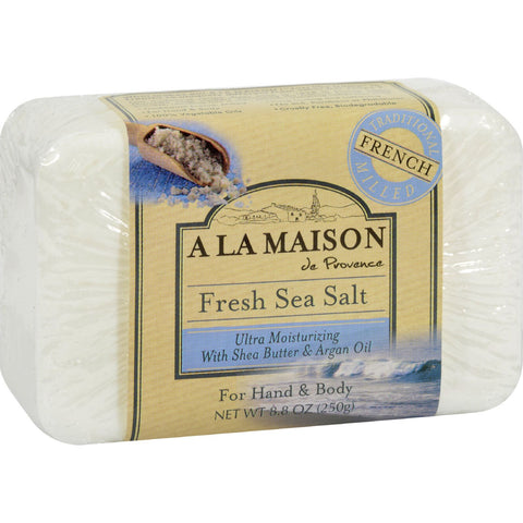A La Maison Bar Soap - Fresh Sea Salt - 8.8 oz - A La Maison - Dropship Direct Wholesale - 1