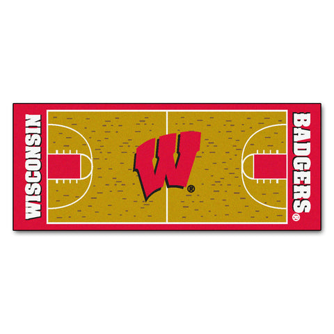 University of Wisconsin Basketball Court Runner 30x72 - FANMATS - Dropship Direct Wholesale