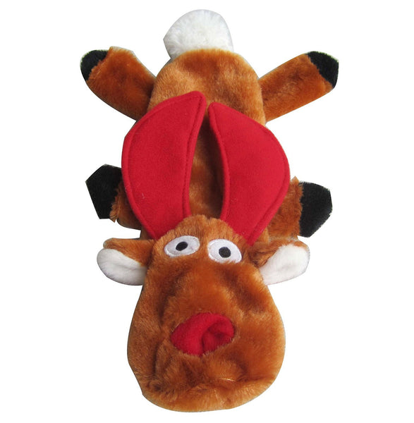 Iconic Pet Christmas Reindeer Flat Pet (Dog) Holiday Toy - Iconic Pet - Dropship Direct Wholesale